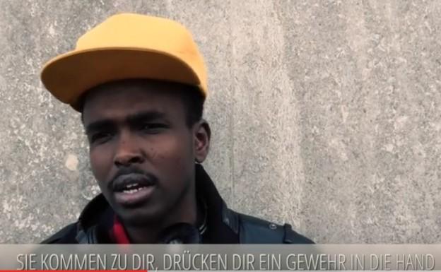 """Screenshot aus dem Video """"Denk nach bevor Du urteilst"""" (verlinken: https://www.youtube.com/watch?v=Ru_PjQaZ-DE ) gegen Ausländerhass und Fremdenfeindlichkeit aus unserer Region"""