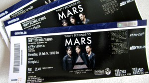 "Eventimtickets zu ""Thirty Seconds to Mars"" (Fotografin: Julia Miller)"