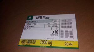 Etikett Papierrolle