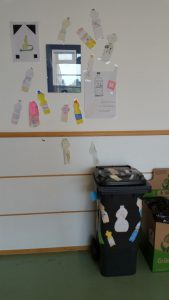 Sammelbehälter im ersten Stock